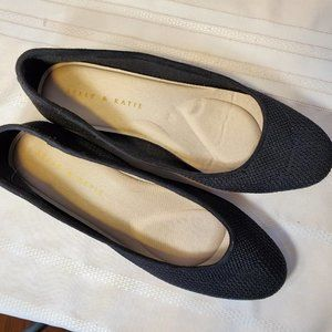 Kelly and Katie Black Flat Shoes